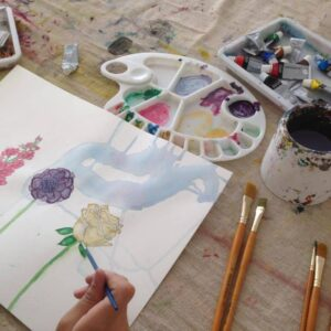 Watercolour in progress, by a 15 years old child