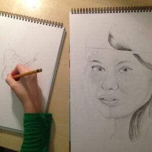 Self-portrait by Mara, 11 years old