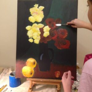 Oil painting, by Mara, 11 years old