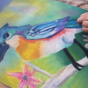 Chalk drawing by 8 years old