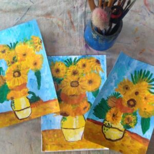 Van Gogh inspired artworks made by 7 & 8 Years old children