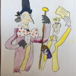 Quentin Blake inspired drawings