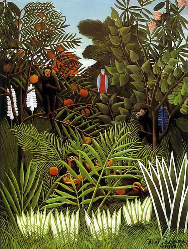 Henri_Rousseau_-_Exotic_Landscape-painting-animals_artist-daily