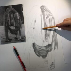 Pencil drawing by a 16 years old student, by Arty Amber