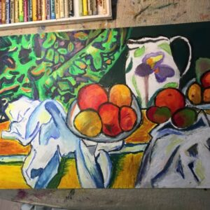 Still life painting by a 9 years old student, by Arty Amber