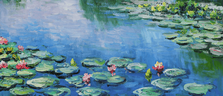 Lilies oil painting by an adult student, by Arty Amber