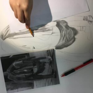 Pencil drawing by and 16 years old child at Arty Amber